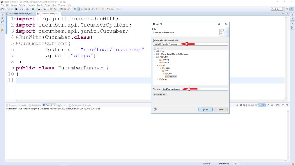 Create Feature File