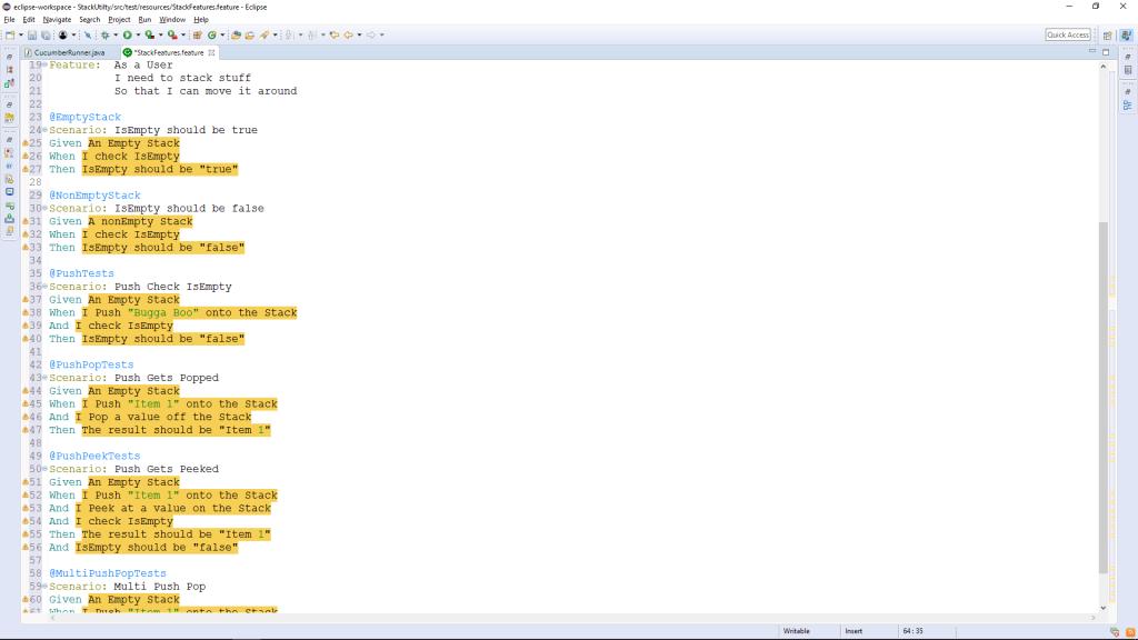 Paste Acceptance Criteria into Feature File